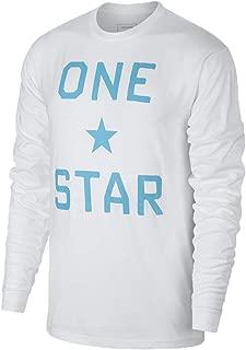 Men's Long Sleeve Shirt One Star Cotton Large White