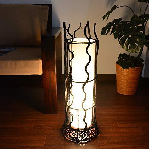 MANJA LAM-0311-2WH E17/40W 【アウトレット】アジアン照明 フロアランプ 円柱型 リアナ (ホワイト) 間接照明 スタンド照明 フロアランプ アジアンテイスト アジアン雑貨 LED対応
