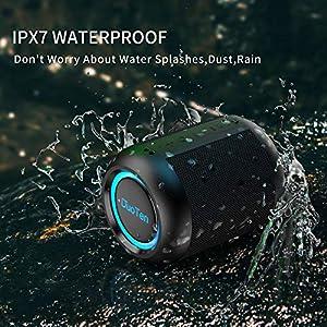 IPX7 Waterproof Shower Speaker DuoTen Bluetooth Wireless Speaker Shower Radio with 10W Loud Sound 1000mAh 15H Playtime…