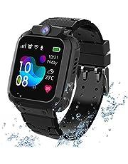 Waterdichte smartwatch voor kinderen; met diverse functies; o.a. lokalisatie via GPS, touchscreen, camera, telefoon, chat, wekker, spelletjes, noodknop; voor jongens en meisjes