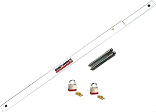 Door Bar Pro AIO TS XL Steel Door Security Bar - Fits Any Inswing or Outswing Double Doors or French Doors from 48