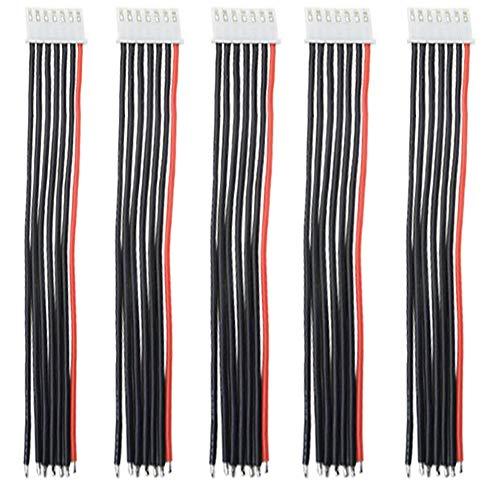 5pcs JST-XH 2S 3S 4S 5S 6S Balance Verlängerungskabel Kabel mit 15cm 22awg Silikonkabel (6S)