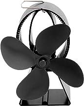 Nunca te rindas Estufa De Calor Del Ventilador De Alta Calor Ventilador De La Fuente Térmica Chimenea De Madera Fabricación De Ventiladores Super Alta Calidad (Color : Black)