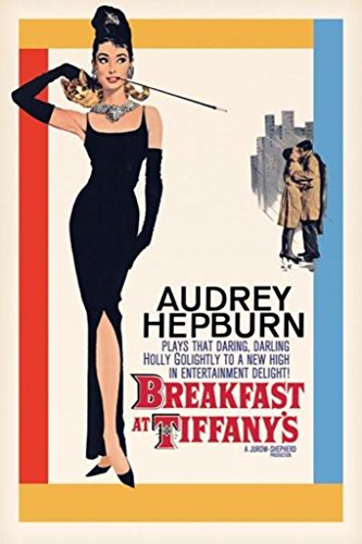 Pyramid America Breakfast at Tiffanys Audrey Hepburn Holly Golightly Romantic Comedy Movie Film Cool Wall Decor Art Print Poster 24x36