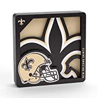 YouTheFan NFL New Orleans Saints Logo Series 3D Magnet