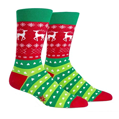 Sock It To Me Men's Holiday Tacky Sweater Crew Socks