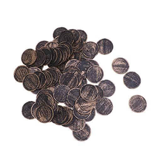 Amosfun - 100 Piezas de Monedas para niños, diseño de Pirata de Pirata