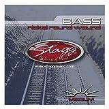 Stagg BA-4505 Jeu de cordes pour Basse électrique Nickel Medium (45-65-85-105)
