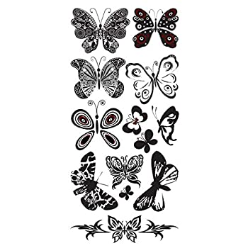 Best white butterfly tattoo Reviews