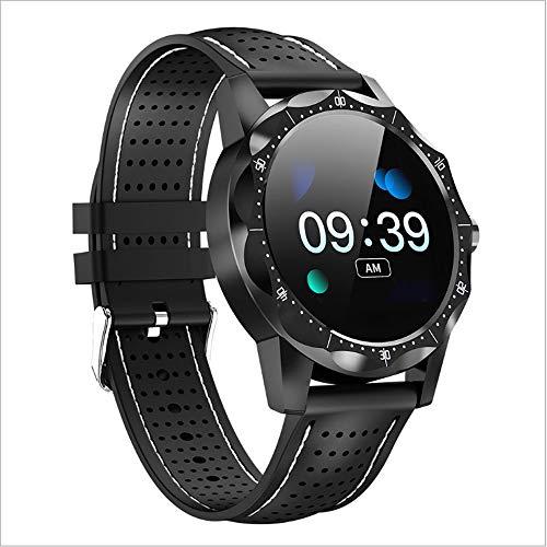 WWSUNNY Smart Watch, Cardiofrequenzimetro IP68 Avanzato Orologio da Polso Sportivo a Commutazione Libera Impermeabile Multifunzione-Bianco