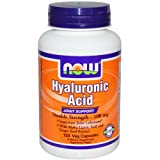 NOW Foods Double Strength Hyaluronic Acid, 120 Vegetarian Capsules