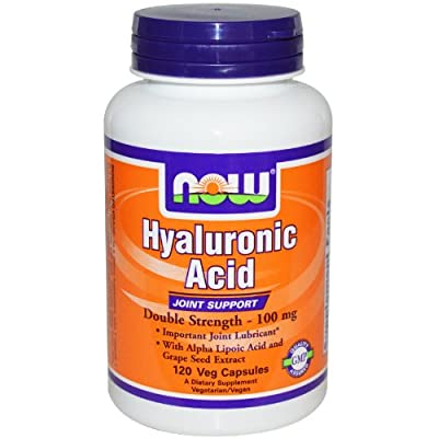 NOW Foods - Hyaluronic Acid Double Strength 100 mg. - 120 Vegetarian Capsules by NOW Foods