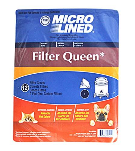 36 Cones & 3 Filters for Filter Queen Majestic Vacuum Bags