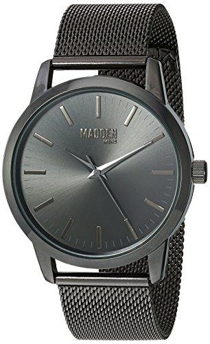 Steve Madden Men's Stainless Steel Japanese-Quartz Watch with Alloy Strap, Black, 22 (Model: SMMW002BK)
