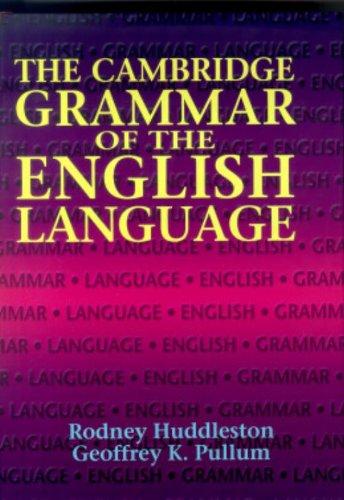 The Cambridge Grammar of the English Language