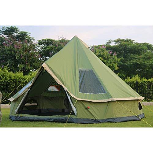 Uitstapje Udstyr, Tent 5-8 Persoon Mongolië Yurt Familie Reizen Wandelen Anti Muggen Sun Shelter Luifel Strand Outdoor Camping Tent, Kejing Miao ORANJE