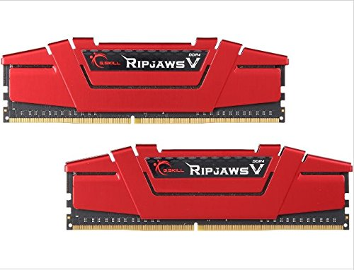 G.Skill 8GB (2 x 4GB) Ripjaws V Series DDR4 PC4-19200 2400MHz Desktop Memory Model F4-2400C17D-8GVR