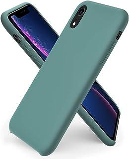 ORNARTO kompatibel mit iPhone XR Silikon Case, Hülle Ultra Dünne Flüssig Silikon Handyhülle Schutz für iPhone XR (2018) 6,1 Zoll  Piniengrün