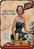 Retro Vintage Style Sign 16x12,Schlitz Beer Sign,Vintage Retro Outdoor & Indoor Sign Wall Decoration,Shop Man Cave Bar Garage Aluminum