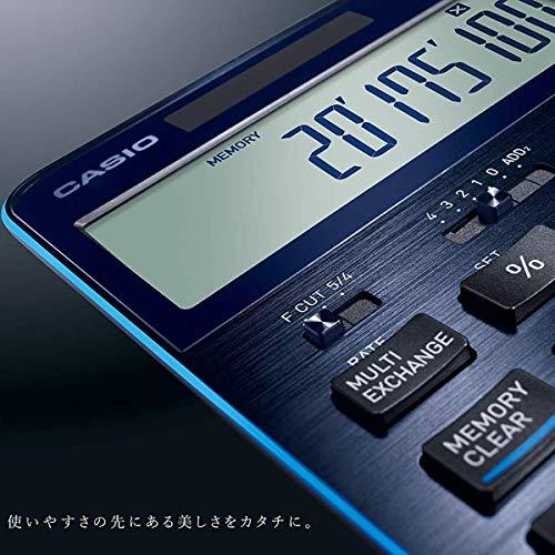 カシオ計算機カシオ電卓12桁プレミアム電卓ネイビーブルー