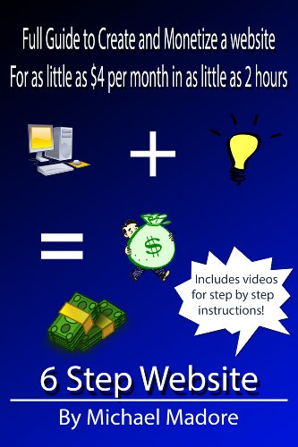 6 Step Website - Guide to Creating and Monetizing Your Ideas (English Edition)
