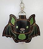 Black Bat Hand Sanitizer Holder 1 oz Size