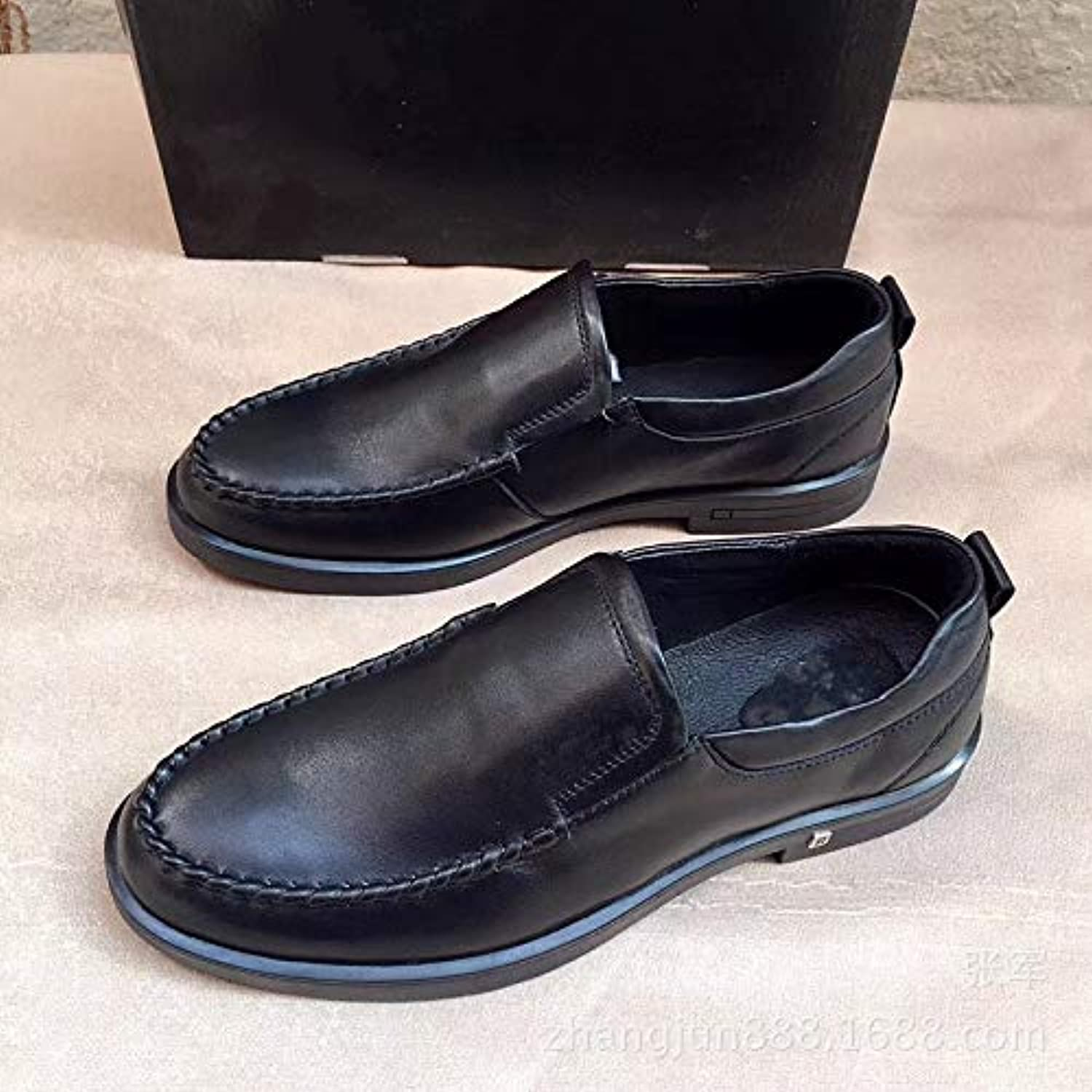 LOVDRAM Men'S Leather shoes Men'S shoes Fashion Leather Casual shoes Men'S shoes Business Dress shoes