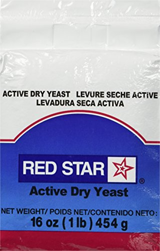 TableTop King Lesaffre Red Star 1 lb. Vacuum Packed Bakers Active Dry Yeast