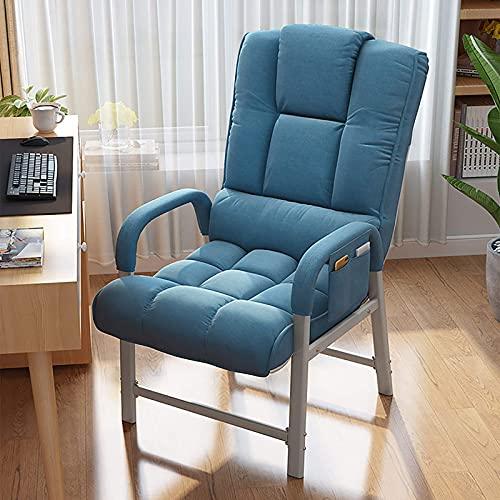 Especial /Simple Silla Ejecutiva Tufted con asiento grueso y reposapiés, silla de conferencia de espalda alta tapizada 360 ° giratorio, silla de oficina de tela, silla ergonómica de la computadora de