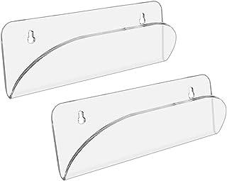 F Fityle 2Pcs Clear Skateboard Wall Mount Acrylic Rack Stand Bracket Storage Shelf