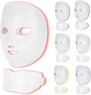 7 Kleuren Led Masker Gezicht Hals Huidverjonging Anti Acne Rimpel Verwijderen Therapie Schoonheidssalon Foton Therapie Car...