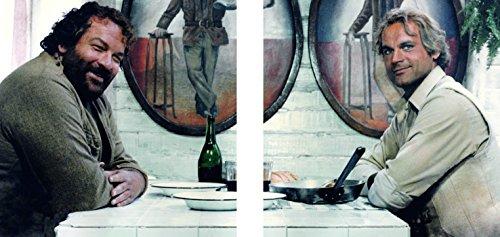Bud Spencer Das Krokodil und Sein Nilpferd - Glasbild-Set (2 Glasbilder à 20x20cm)