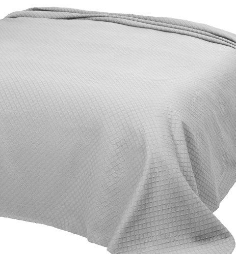 Home Basic 253 - Colcha de piqué para Cama Individual, 180 x 260 cm, Color Blanco
