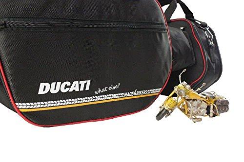 made4bikers Promotion-Bag: Bedruckte Koffer Innentaschen passend für Ducati Multistrada 1200 ab 2015, 1260 ab 2017, 950 ab 2017