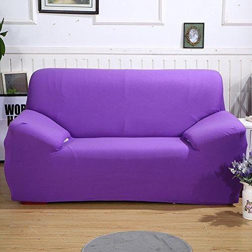 ele ELEOPTION Sofa Überwürfe Sofabezug Stretch elastische Sofahusse Sofa Abdeckung in Verschiedene Größe und Farbe Herstellergröße 145-185cm (Violett, 2 Sitzer für Sofalänge 130-170cm)