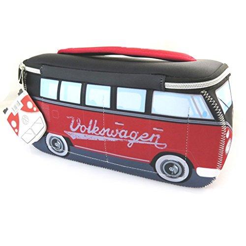 Volkswagen [N4532] - Trousse de Toilette 'Volkswagen' Rouge Noir - 29x13x10 cm