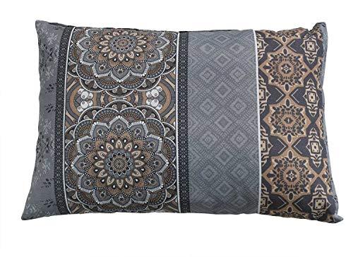 Gartenkissen Loungekissen Rückenkissen Dekokissen | Braun | Mandalamotiv | 40x60 cm