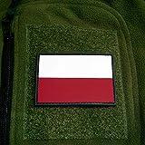 Copytec 3D Rubber Patch Polen Polska Pole Streitkräfte Armee Fahne Flagge 8x5cm #16262
