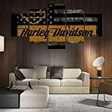 Bild Harley Davidson Leinwand Poster Wandbild Kunstdruck XXL 120 cm*80 cm 474 se