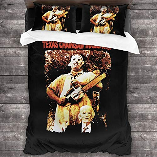 Texas Chainsaw Massacre Sheet Cover-3 Piece Set-Hotel Luxury Bed Sheet-Extra Soft-Deep Pocket-Easy to Install-Breathable and Cooling Sheets-No Wrinkles-Comfortable.