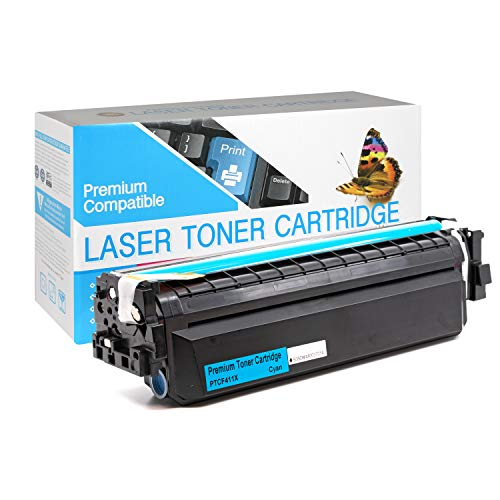 SuppliesOutlet Compatible Toner Cartridge Replacement for HP 410X / CF411X (High Yield Cyan,1 Pack)