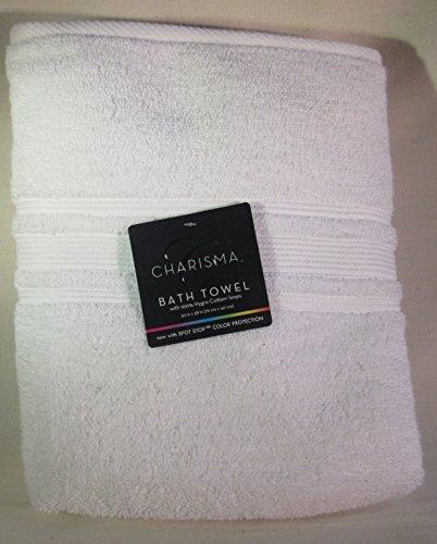Charisma Luxury Bath Towel - 100% Hygro Cotton, Classic White