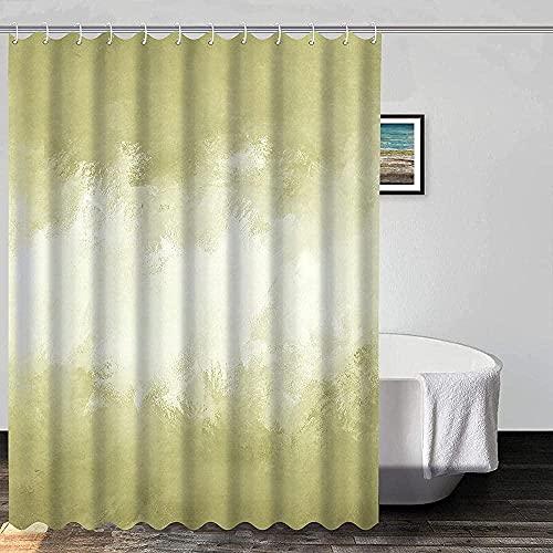 Marmor Duschvorhang Gelb-Grün Hintergr& Textur Duschvorhänge für Badezimmer 72x72 Zoll dekorative Badezimmer Badewanne wasserdicht Duschvorhang Set mit