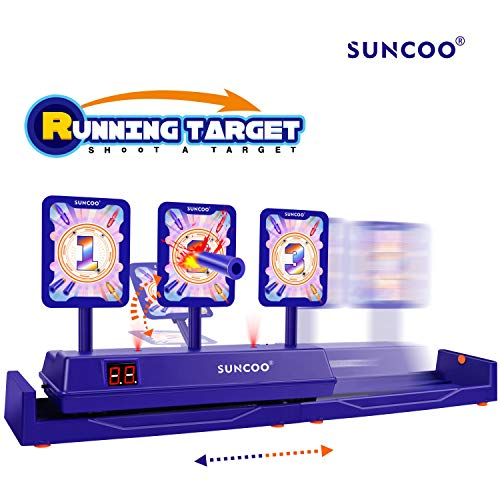 SUNCOO Running Shooting Targets Electronic Scoring Auto Reset Digital Targets for Nerf Guns Toys,Ideal Gift Toy(2019 New Version)