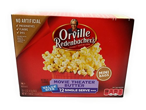Orville Redenbachers Gourmet Popcorn Movie Theater Butter 12 Ct. Mini (Pack of 2)