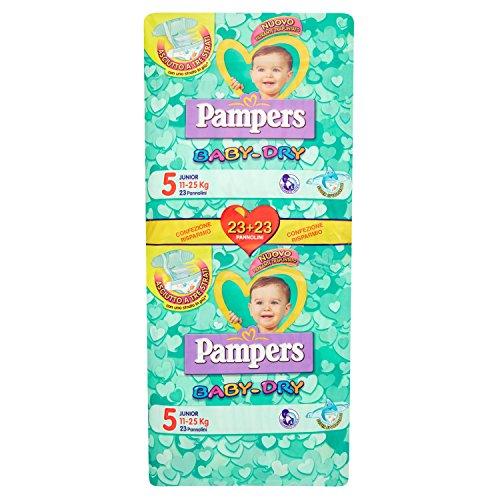 Pampers Pannolini per Bambini 11 - 25 Kg, Confezione da 23