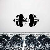 Spaß Hantel Bodybuilding Dekorative Wandaufkleber PVC Wohnzimmer Schlafzimmer 49x25 CM
