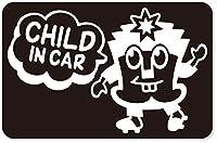 imoninn CHILD in car ステッカー 【マグネットタイプ】 No.65 ハーイさん (黒色)