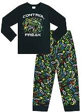 Pijama largo de algodón negro para juegos con control de fábrica de The Pyjama, Negro, 15-16 Años