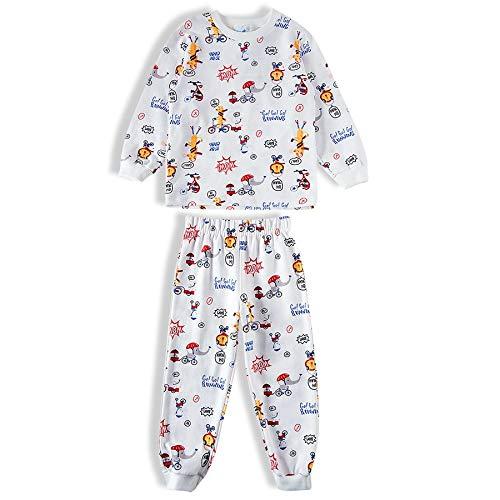 Pijama Longo Moletinho Estampado Animais, Tip Top, Toddler Menino, Neve, 2T